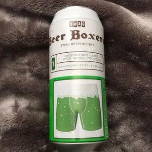 SWAG 🎁 BEER BOXERS - LUCKY BOXER BRIEFS SZ LARGE